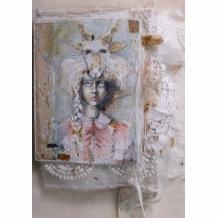 Fabric Book Cover- Animal Girl