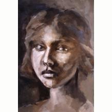 Big Brush tonal portrait